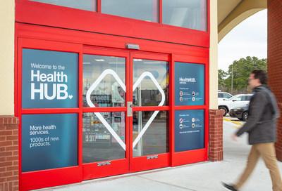 Fotografía del exterior de un centro HealthHUB® en una tienda de CVS Pharmacy (PRNewsfoto/CVS Health)