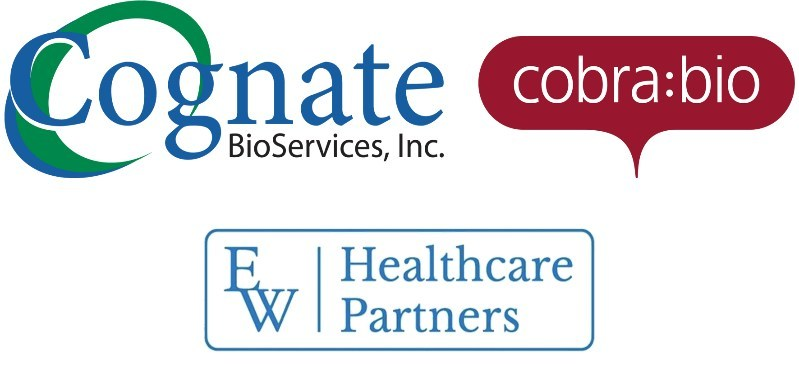 Cognate Bioservices announces completion of the acquisition of Cobra Biologics, funded primarily by EW Healthcare Partners.