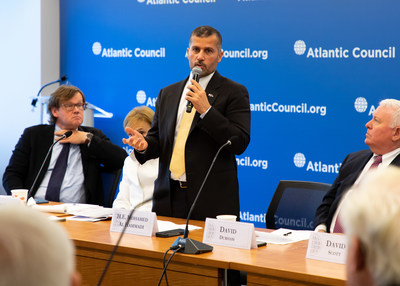 ENEC CEO Mohamed Al Hammadi speaking at the Atlantic Council in Washington, D.C.