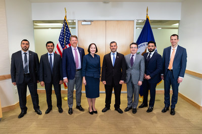 Members of the Emirates Nuclear Energy Corporation delegation at a meeting with officials at the US State Department in Washington, D.C.