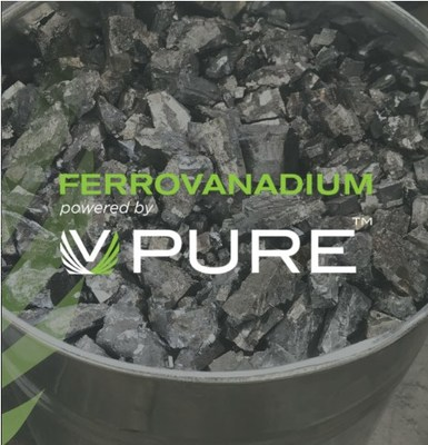 Ferrovanadium powered by VPURE (CNW Group/Largo Resources Ltd.)