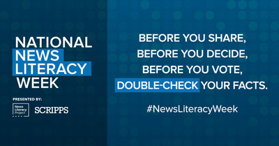 The News Literacy Project is partnering with The E.W. Scripps Company to launch a national public awareness campaign on the importance of news literacy and the role of the free press in American democracy. The campaign culminates in National News Literacy Week, Jan. 27-31.