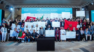 Participants at the closing ceremony of the Arab Innovation Academy 2020