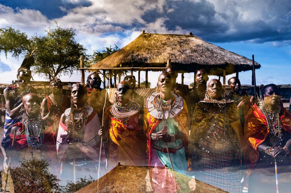 Using double exposure, Ruel merges distinct subjects to create unique perspectives. (Nicolas Ruel, Serengeti 33).