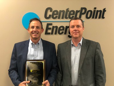 From left: Rob Ellis, vice president of Sales for CenterPoint Energy Services, and Kevin Huntsman, vice president of Sales for Mastio & Company