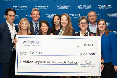 Today at its global Town Hall, Wyndham Hotels & Resorts' leadership team affirmed its ongoing commitment to support human trafficking awareness and prevention efforts and announced a donation of 1 million Wyndham Rewards points to Polaris, a leader in the global fight to eradicate human trafficking. Wyndham also announced a commitment to achieve – by year end – 10 million points donated by the company and Wyndham Rewards members to Polaris since 2008. (Photo Credit: Deborah Fischman Photography)