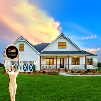 The Schumacher Homes Charleston Modern Farmhouse, located in Benson, NC, wins Gold Award for Best Interior Merchandising of a Model.