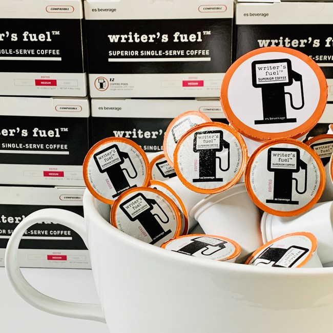 Whether you prefer the savory, Italian roast of EDITED or the darker, French roast of ROUGH DRAFT, live your best #coffeelife with WRITER'S FUEL Superior Single-Serve Coffee. Available online or via-Alexa Skill.