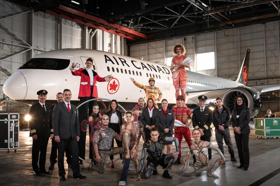 Air Canada and Cirque du Soleil announce international partnership (CNW Group/Air Canada)
