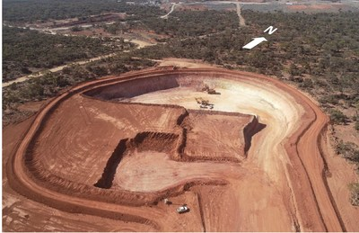 Figure 3: Fairplay North open pit, looking northwest. (CNW Group/RNC Minerals)