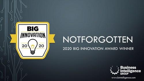NotForgotten Wins 2020 BIG Innovation Award