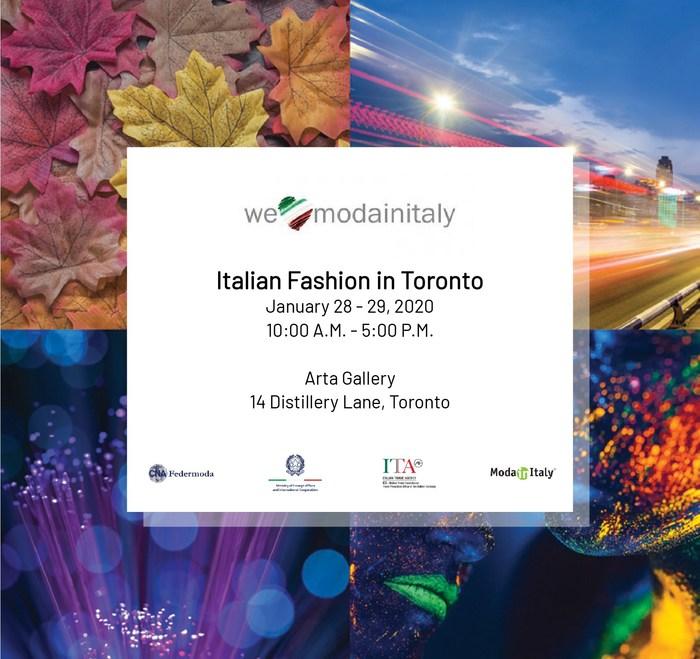 WeLoveModainItaly launches January 28, 2020 in Toronto (CNW Group/CNA Federmoda)
