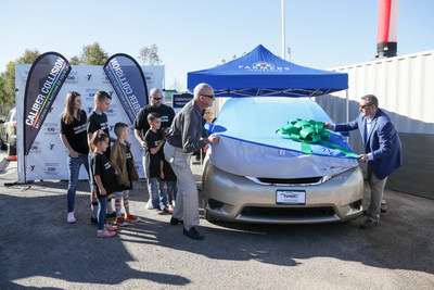 Farmers Insurance donates a newly refurbished van to U.S. Navy Sailor Emiliano Martinez and his family on January 23, 2020 as part of the Farmers Insurance Open.