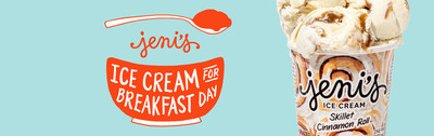 Jeni's Has A New Skillet Cinnamon Roll Ice Cream And They're Serving It For Breakfast