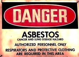 Asbestos Exposure Warning Sign-Lung Cancer