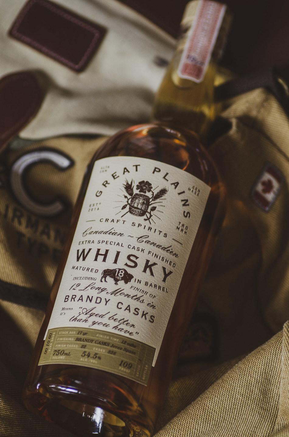 Great Plains Craft Spirits 18 Year Old Jerez Brandy Finished Whisky won Gold and Award of Excellence for Best New Whisky at the 2020 Canadian Whisky Awards (CNW Group/Great Plains Craft Spirits)