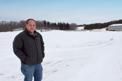 Darren Ireland, local farmer and landowner in South Bruce (CNW Group/Nuclear Waste Management Organization (NWMO))