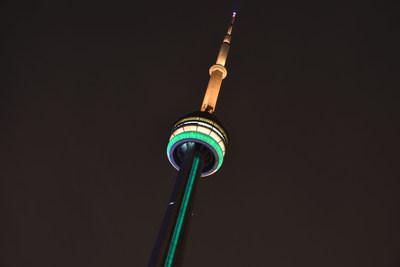 A CN Tower será iluminada em verde e dourado no dia da Austrália, 26 de janeiro, como parte de uma demonstração global de apoio à Austrália em meio aos incêndios devastadores. (CNW Group/CN Tower)