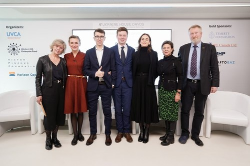 Panelists of the final session at Ukraine House Davos