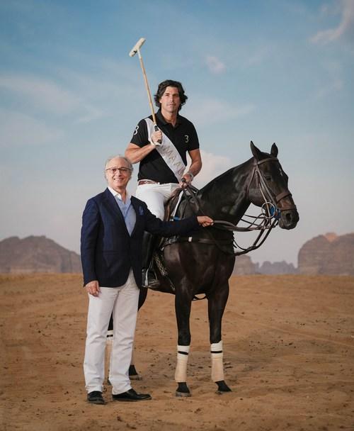 Nicholas Naples, CEO, AMAALA and Ignacio 'Nacho' Figueras at AlUla Desert Polo
