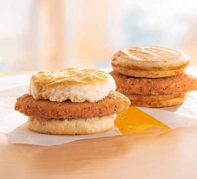 For the first time, customers across the country can wake up to McDonald's Chicken McGriddles® and McChicken Biscuit breakfast sandwiches for a limited time.