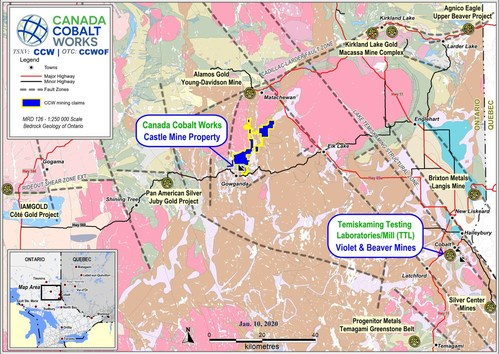 CCW Outlines Large Target Horizon at Castle East Discovery with New Native Silver Hits (CNW Group/Canada Cobalt Works Inc.)