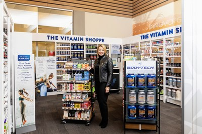 Sharon Leite, CEO of The Vitamin Shoppe, inside a new location within the LA Fitness gym in Union, New Jersey.