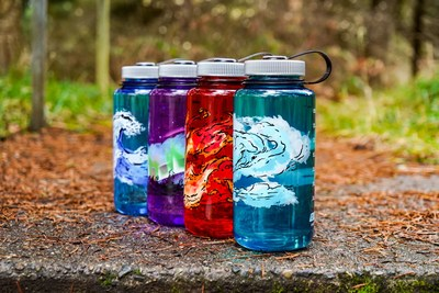 Nalgene Outdoor, maker of reusable water bottles, reaffirms its commitment to simplicity and durability with the introduction of its new Elements Collection, four 32-ounce, wide-mouth bottles featuring artistic interpretations of life's fundamental elements — earth, wind, fire and water.  Wind – This teal bottle's swirling design reminds us to draw breath and appreciate the air that revitalizes body and spirit.