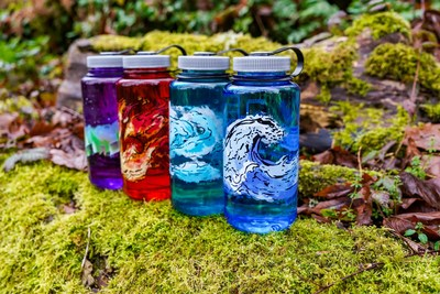 Nalgene Outdoor, maker of reusable water bottles, reaffirms its commitment to simplicity and durability with the introduction of its new Elements Collection, four 32-ounce, wide-mouth bottles featuring artistic interpretations of life's fundamental elements — earth, wind, fire and water.  Water — Powerful waves hydrate and refresh, celebrating the very basis of life on this rich blue bottle.