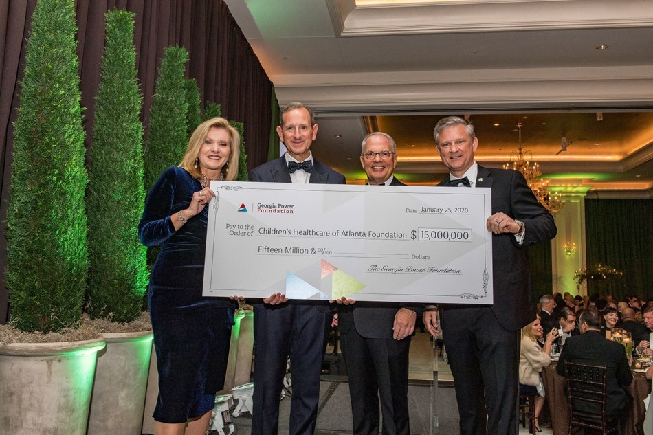 Donna Hyland, CEO of Children's Healthcare of Atlanta; Paul Bowers, chairman, president and CEO of Georgia Power; Tommy Holder, chairman and CEO of Holder Construction Company; and Mark Chancy, Chairman, Children's Foundation Board