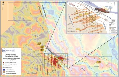 Figure 1: Fenelon Gold, Property Compilation Map (CNW Group/Wallbridge Mining Company Limited)