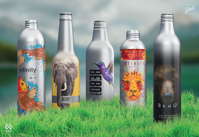 Ball's Infinity™ Aluminum Bottle is true to its name – it can be used for numerous product categories, and recycled over and over again with no loss in quality.