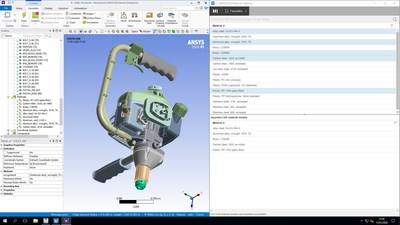 The new ANSYS GRANTA MI Pro fast-start data management solution enables access to managed materials data from within ANSYS Mechanical.