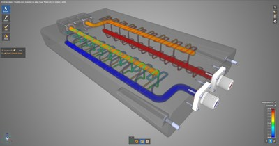 In ANSYS 2020 R1, ANSYS Discovery Live introduces a steady-state fluids solver for quickly solving  thermal  mixing  scenarios  and  parametric  studies.