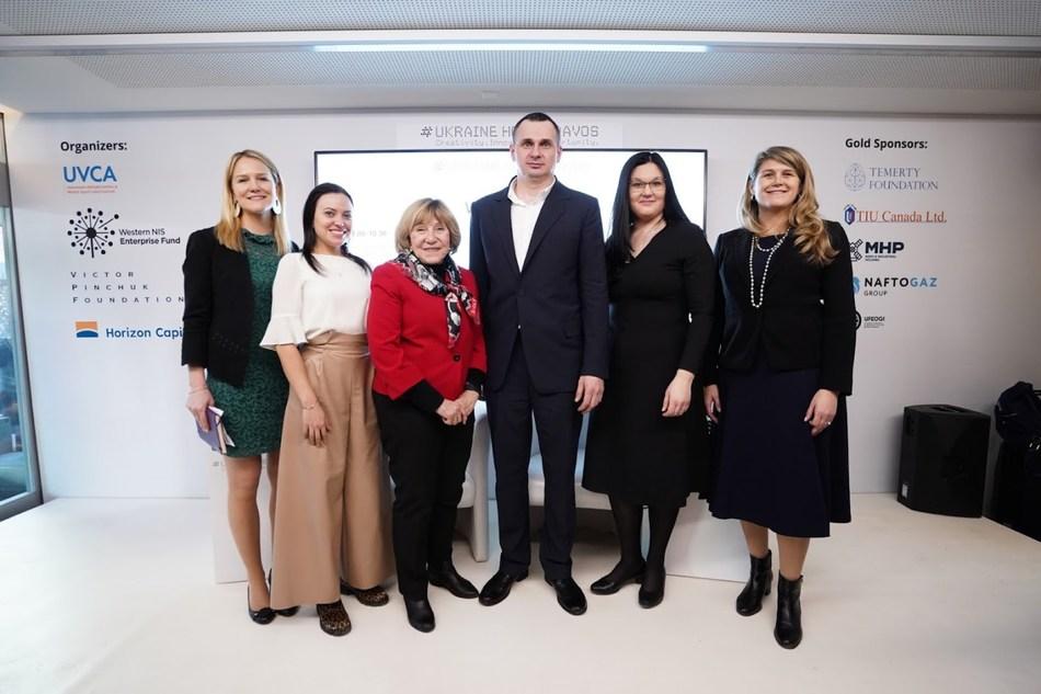 Ukraine House Davos Organizing Committee with Oleg Sentsov