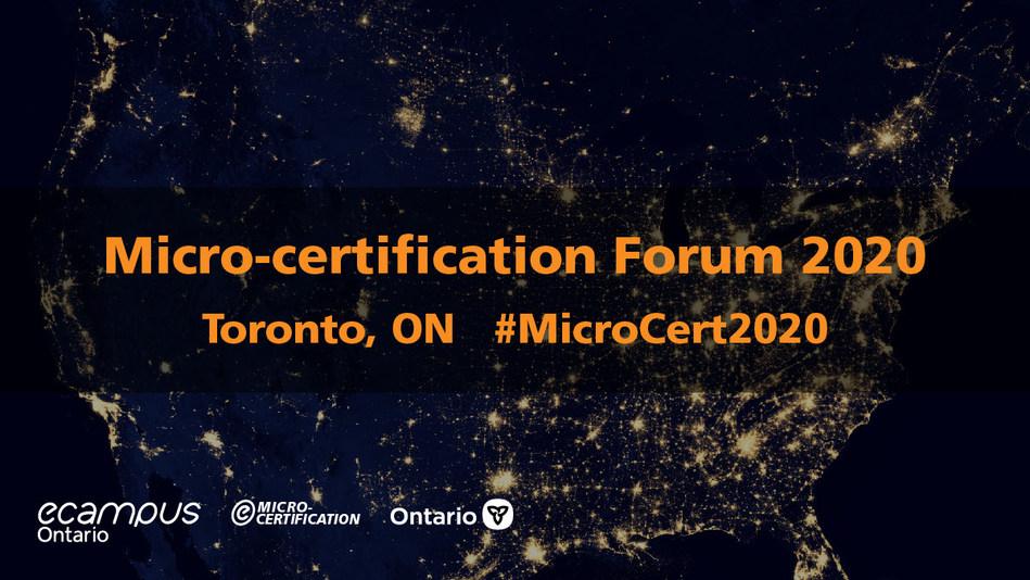 Micro-certification Forum 2020 information card (CNW Group/eCampusOntario)