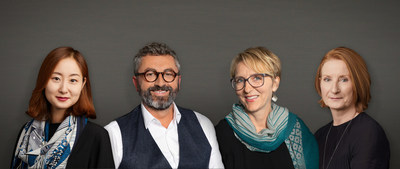 The Senior Design Directors of PYR have worked with Pierre-Yves Rochon for years to create the ultimate five-star luxury experience worldwide. Often blending classical and contemporary forms, this international team has produced timeless and iconic designs for major hotel brands, boutique properties, restaurants and private residences. Pictured from left to right: Jungsoo Kim, Stephane Renaud, Claire Mabon and Alexandra Parsons.