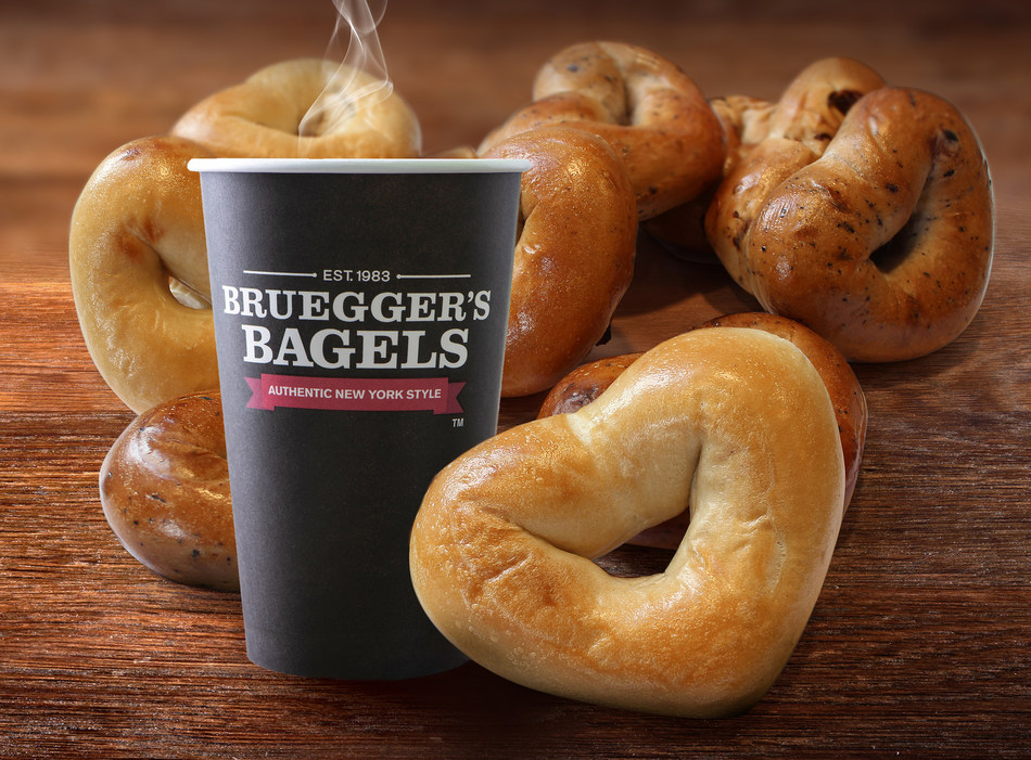 Bruegger's Heart Bagels available at participating bakeries Feb. 10-14.