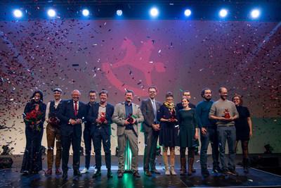Ernst Kick, CEO Spielwarenmesse eG, is delighted for the ToyAward winners (PRNewsfoto/Spielwarenmesse eG)