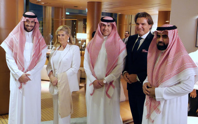 Photo (left to right) H.R.H. Prince Abdulaziz Bin Faisal Al Saud, Kingdom of Saudi Arabia H.R.H. Princess Léa of Belgium, espoused to the late Prince Alexandre of Belgium, and aunt of King Philippe of Belgium Badr Al Towaijri, CIO, Al Towaijri Holding / Director Wealth Management, MEFIC Capital, Kingdom of Saudi Arabia Sir Anthony Ritossa, Chairman, Ritossa Family Office, UAE Sultan Alhaif, Advisor to His Royal Highness Prince Abdulaziz Bin Faisal Al Saud, Kingdom of Saudi Arabia (PRNewsfoto/Ritossa Family Office)