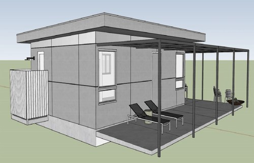Rendering of soon to be completed 'Pause House'