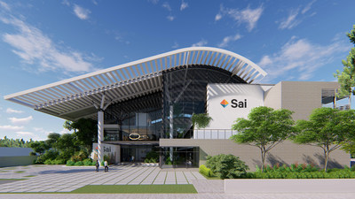An artistic impression of Sai Life Sciences' upcoming integrated Research & Technology centre in Hyderabad, India.