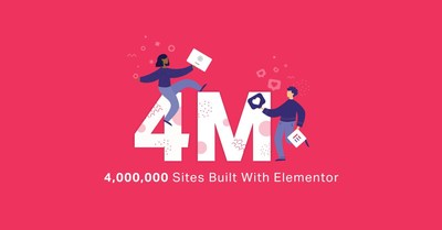 Elementor Hits 4 Million Websites in Record Time