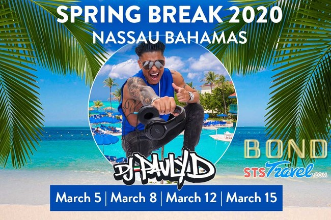 STS VIP Party Schedule for Nassau Bahamas Spring Break 2020