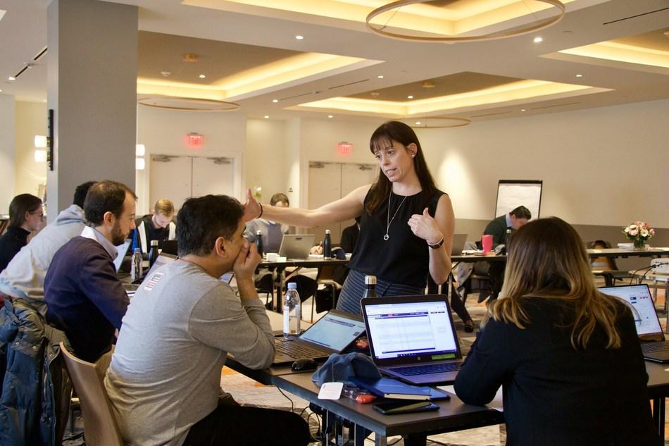 Instructor, Lisa McNicholas, teaches Sitetracker Certification participants.