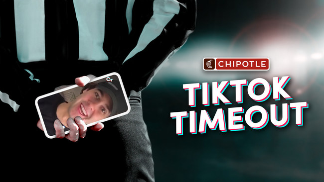 David Dobrik in Chipotle's #TikTokTimeout
