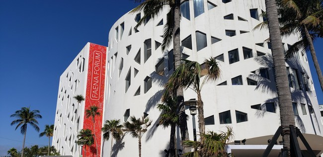 The new Quantum Wireless system is designed to improve cell service inside the Faena Hotel and the Faena Forum, site of VIP events during the Miami Super Bowl.
