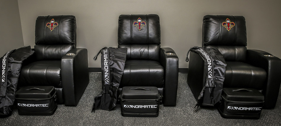 NormaTec Recovery Setup at the New Orleans Pelicans' Training Facility