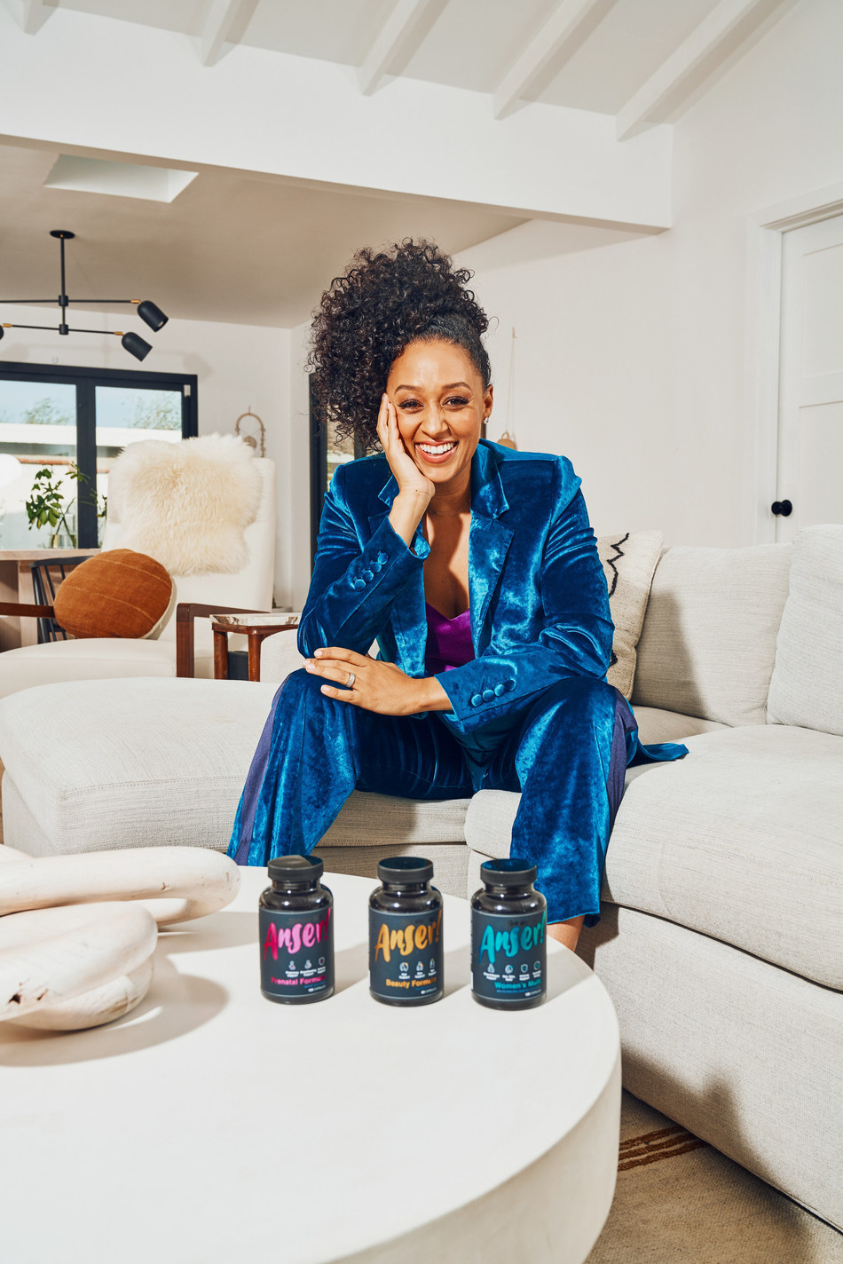 Tia Mowry with Anser supplements