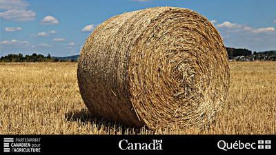 Plus de 10 millions de dollars versés aux producteurs de foin dans le cadre du Programme d'assurance récolte (Groupe CNW/La Financière agricole du Québec)